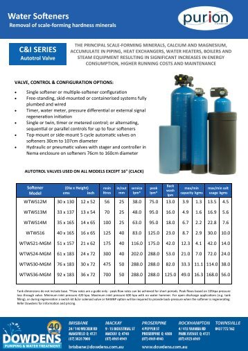commercial and industrial water softeners