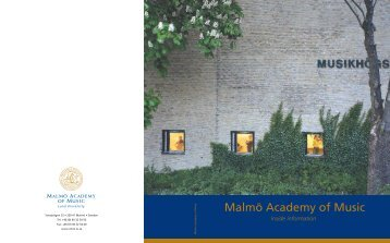 Malmö Academy of Music