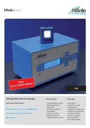 Product information LED Spot W - Dr. Hönle AG