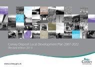 Conwy Deposit Local Development Plan 2007-2022
