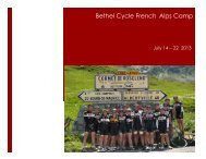 2013 Camp Brochure - Bethel Cycle