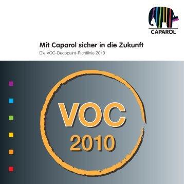 Die VOC-Decopaint-Richtlinie 2010 - Caparol Farben AG