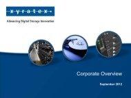 Corporation Presentation Template - Xyratex