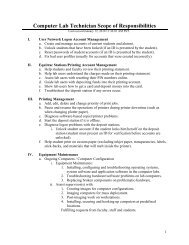 Computer Lab Technician Scope of Responsibilities - at www.my ...