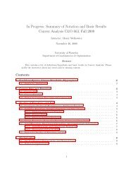 Summary of Notation and Basic Results - University of Waterloo