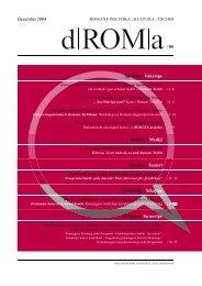 Download d|ROM|a 04, Dezember 2004 als PDF - Roma-Service