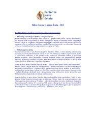 Bilten Centra za prava deteta - 2012 - Centar za razvoj neprofitnog ...
