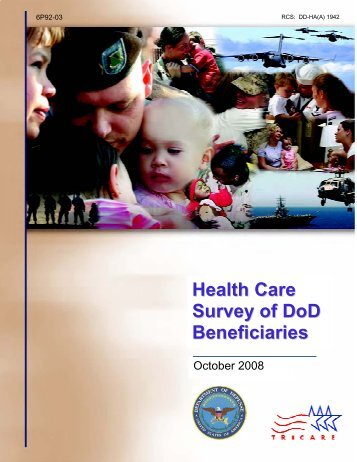 Health Care Survey of DoD Beneficiaries - Tricare