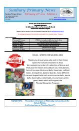 Newsletter No 5 February 28 2013 - Sunbury Primary School