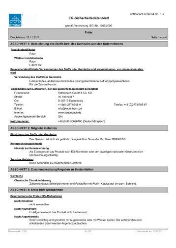 EG-Sicherheitsdatenblatt - Kettenbach GmbH & Co. KG