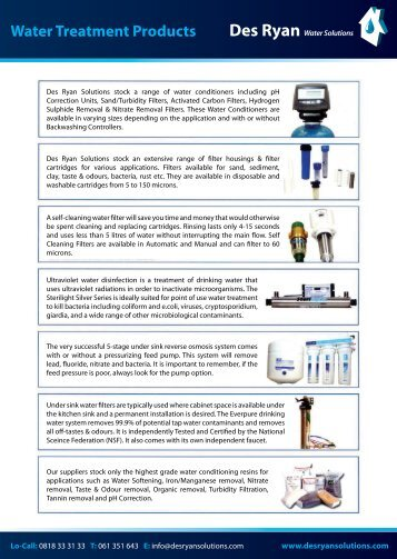 Water Treatment Products - Colorfil