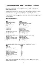 Kjemiolympiaden 2005 – Resultater 2 - Universitetet i Oslo
