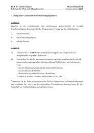 Prof. Dr. Ulrich Schlieper Makroökonomik II Lehrstuhl für VWL, insb ...