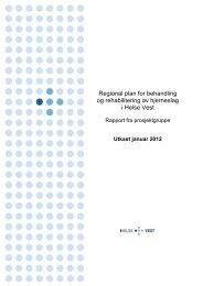 Regional plan for behandling og rehabilitering av ... - Helse Vest