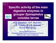 Specific activity of the main digestive enzymes in grouper ... - Library