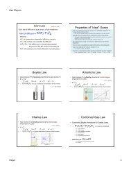 "Properties of ""Ideal"" Gases Boyles Law ... - De Anza College"