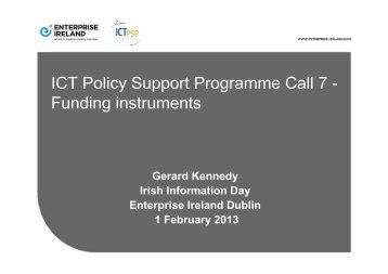 Funding instruments - Seventh EU Framework Programme Ireland