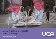 BTEC National Certificate in Art & Design - University for the ...