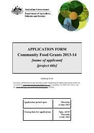 APPLICATION FORM Community Food Grants 2013-14