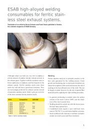 ESAB High-alloyed welding Consumables For Ferritic Stain