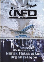 Nytt i fra NFO avd. SAS - Norsk Flytekniker Organisasjon