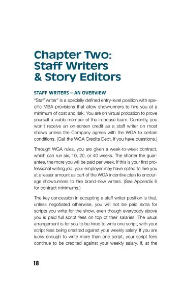 Staff Writers & Story Editors - Writers Guild of America, West