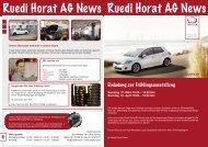 NEWS März 2012 - Ruedi Horat AG
