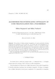 Algorithms for investigating optimality of cone triangulation for a ...