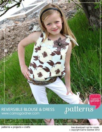 Reversible Blouse and Dress Pattern - Carina Gardner