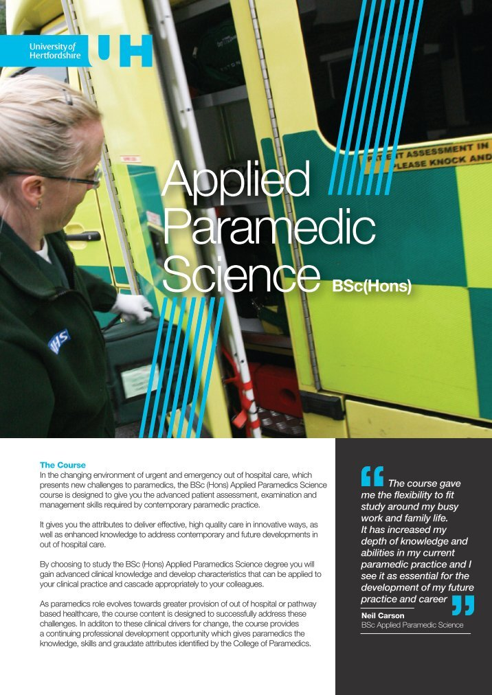foundation degree paramedic science essay Revised february 2016 g11 page 1 of 2 foundation degree in paramedic sciences this is a credit-based qualification these.