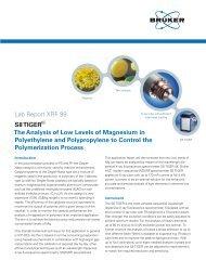 XRF 99 S8 TIGER Analysis of Magnesium in - Bruker