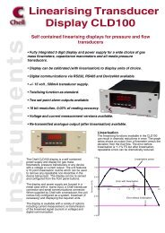 Linearising Transducer Display CLD100 - Chell Instruments Limited