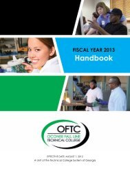 OFTC - FY13 Handbook A Unit of the Technical College ... - OFTC.edu