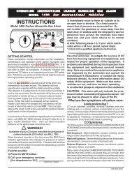 INSTRUCTIONS - Safe Home Products