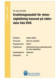 Research area - VTI