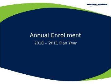 2010 Annual Enrollment Briefing NGHP - Benefits Online
