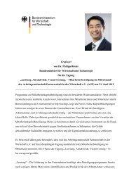 Grußwort von Dr. Philipp Rösler Bundesminister für Wirtschaft ... - AGP