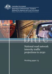 National road network intercity traffic projections to 2030 - Bureau of ...