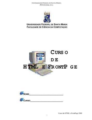 HTML E FRONTPAGE