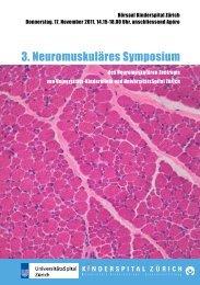 3. Neuromuskuläres Symposium - Fortbildung - UniversitätsSpital ...