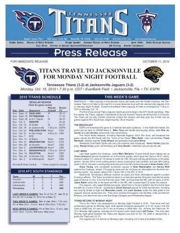 titans travel to jacksonville for monday night football - NFL.com