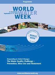 2010 Programme - World Water Week