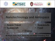 Nanotechnology and Aerospace - Institute for Chemical Education
