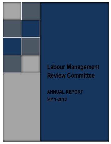 LMRC Annual Report 2011-2012 - Government of Nova Scotia