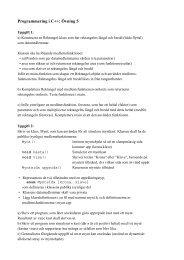 Programmering i C++: Övning 5