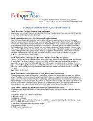GLANCE OF VIETNAM TOUR PLUS/ 6 DAYS 5 NIGHTS - FathomAsia