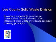 Lee County Solid Waste Div.
