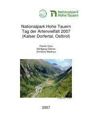Nationalpark Hohe Tauern Tag der Artenvielfalt 2007 (Kalser ...
