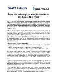 Partenariat technologique entre Smart Adserver et le Groupe TBS ...