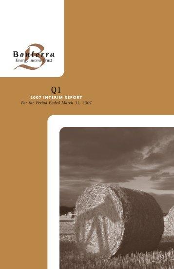 2007 Q1 - Bonterra Energy Corp.